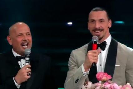 ODUŠEVILI PUBLIKU Mihajlović i Ibrahimović blistali na Sanremu pjevajući popularni italijanski hit (VIDEO)