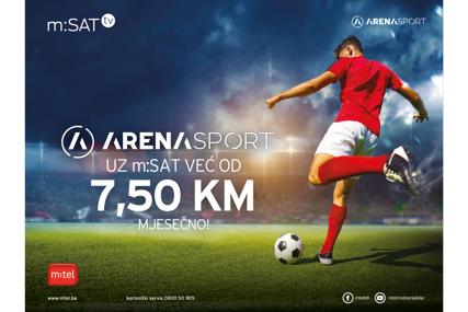 Arena sport kanali uz m:SAT već od 7,50 KM mjesečno