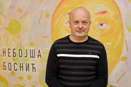 LITERARNI I POETSKI IZRAZ Izložba autora Nebojše Bosnića predstavljena u Malom salonu Banskog dvora