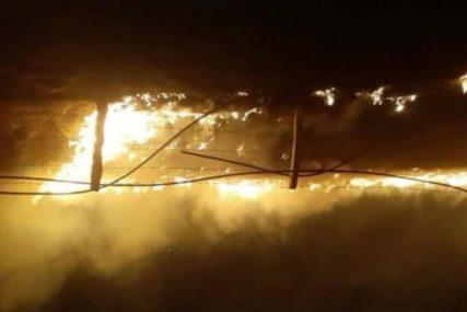 VATRA PRIJETILA KUĆAMA Ugašen požar u selu Hrušta kod Nevesinja