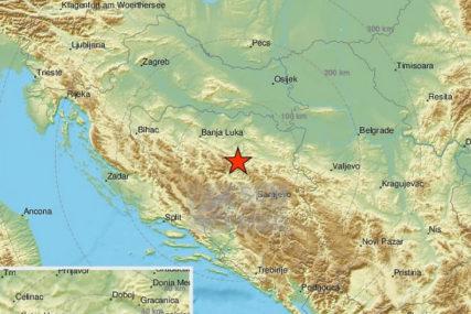 Podrhtavanje tla: Zemljotres snage 2,9 stepeni po Rihteru jutros zabilježen kod Zenice
