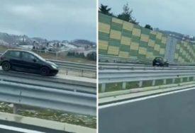 BAHATO DO DASKE Vozač divljao na auto-putu kod Sarajeva, vozio u suprotnom smjeru (VIDEO)