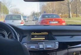 Bahati vozač nikako da se dozove pameti: Nedavno zbog divljanja u saobraćaju osuđen, a on se opet HVALI NASILNIČKOM VOŽNJOM