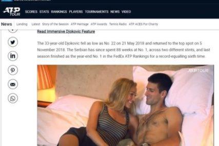 Čestitka za obaranje rekorda: ATP na zvaničnom sajtu objavio slike iz kreveta razgolićenog Novaka i Jelene (FOTO)