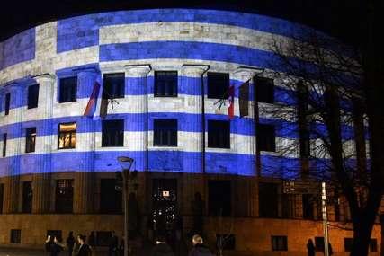 ČESTITKA DANA NEZAVISNOSTI Predsjednička Palata u Banjaluci u bojama grčke zastave (FOTO)