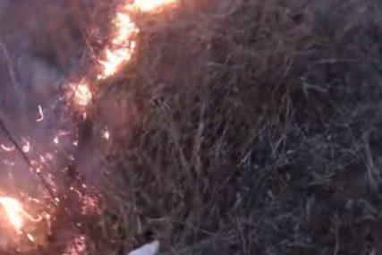 Požar kod Mostara: Gori nisko rastinje