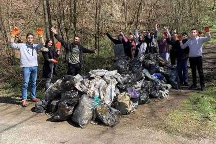 Sve spakovali u 250 džakova: Grupa volontera skupila se da očisti smeće sa obala Drine