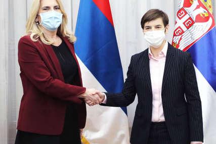 """""""Strateški interes realizacija zajedničkih projekata"""" Cvijanovićeva nakon sastanka sa Anom Brnabić"""