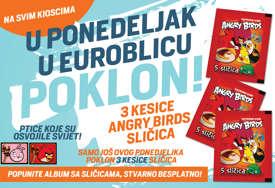 """Posljednja prilika da POPUNITE OMILJENI ALBUM: Za čitaoce """"EuroBlica"""" sutra besplatno 15 Angry Birds sličica"""