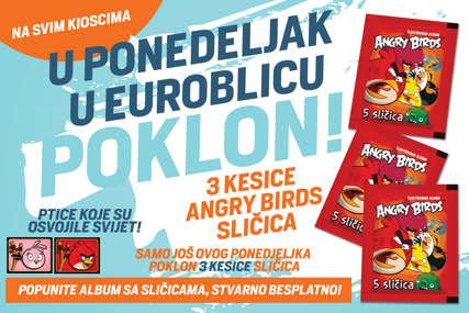 """Posljednja prilika da POPUNITE OMILJENI ALBUM: Za čitaoce """"EuroBlica"""" danas besplatno 15 Angry Birds sličica"""