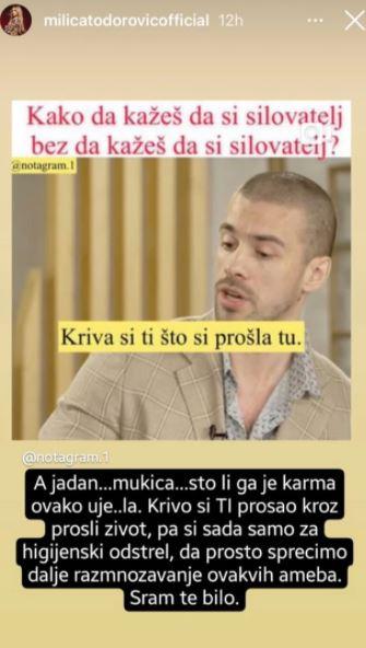 FOTO: MILICA TODOROVIĆ/INSTAGRAM