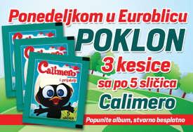 """POKLON ZA NAJMLAĐE """"EuroBlic"""" ponedjeljkom daruje sličice za album """"Kalimero"""""""