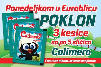 """POKLON ZA NAJMLAĐE """"EuroBlic"""" ponedjeljkom daruje 15 sličice za album """"Kalimero"""""""