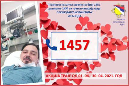 """""""Pomozimo Slobodanu da dobije novo srce"""" Aktiviran humanitarni broj 1457 za mladića iz Broda"""