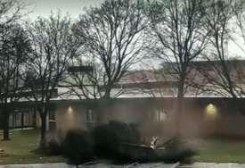 NEVJEROVATNA SCENA Udar groma u stablo ispred škole pokazuje svu snagu prirode (VIDEO)