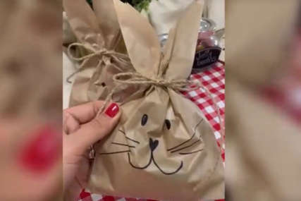 U ZECU SE NOSE JAJA Od obične papirne kese napravite vrećicu za uskršnje poklone (VIDEO)