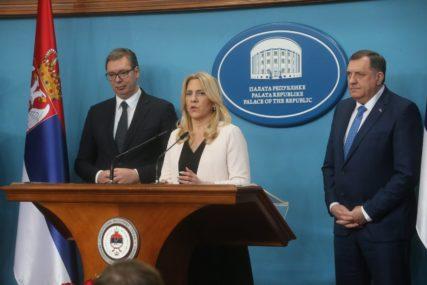 """Cvijanovićeva zahvalila Vučiću """"Sve ono što nismo uspjeli sa nekim drugima, mi smo uspjeli sa Srbijom"""" (FOTO)"""