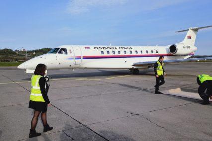 Dodik, Cvijanović i Čubrilović ispratili delegaciju Srbije sa aerodroma u Mahovljanima (FOTO)
