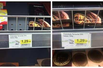 """AFERA """"ČOKOLADA"""" U tržnom centru u Banjaluci pokušali da isprave grešku, pa se još više upetljali (FOTO)"""