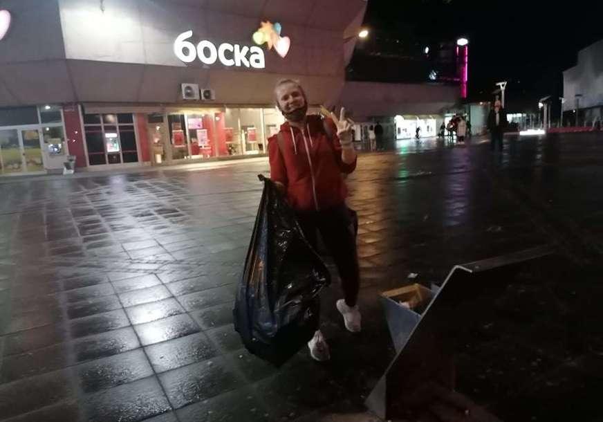 """Nakon čišćenja trga oglasili se mladi """"Ne možete svakog kupiti i izmanipulisati, Banjaluka je bila i ostaće GRAD MLADIH I ZELENILA"""""""