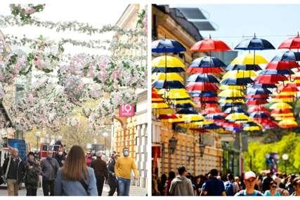 Otimaju se za zasluge: Cvijeće i kišobrani podijelili Banjalučane (FOTO)
