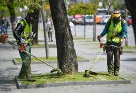 UREĐENJE GRADA U toku košenje zelenih površina u parkovima