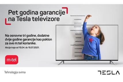 Pet godina garancije na sve Tesla televizore