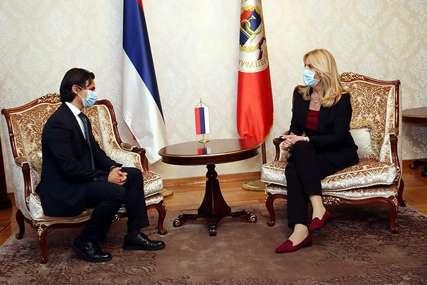 """""""Dosadašnja saradnja Srpske i Italije veoma dobra"""" Cvijanovićeva i Minasi o aktuelnim političkim i ekonomskim prilikama"""