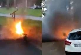 """""""Da sam ga stavio u auto, evo šta bi se desilo"""" Parkirao električni trotinet, a onda je krenuo požar (VIDEO)"""