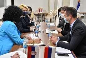 Tepavčevićeva nakon sastanka sa Šeranićem: Stručna podrška osnivanju Zavoda za socijalnu zaštitu Srpske (FOTO)