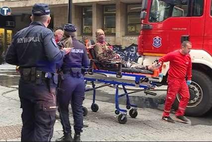 """""""Stakla su pucala, sve se treslo"""" Pet osoba povrijeđeno u eksploziji plinske boce u centru Beograda (VIDEO)"""