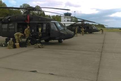 """Pripreme za vježbu """"Brzi odgovor 21"""": Američki helikopteri sletjeli u BiH"""