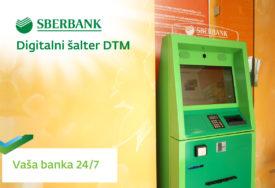Digitalni šalter u SAMOUSLUŽNIM ZONAMA Sberbank a.d. Banja Luka