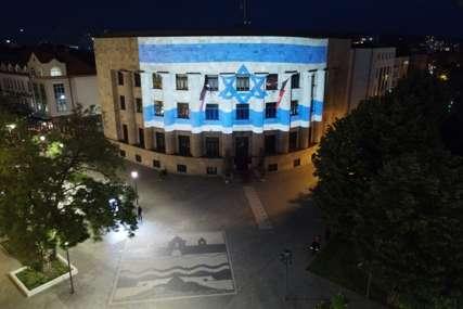 Znak solidarnosti: Palata Republike večeras u bojama Izraela (FOTO)
