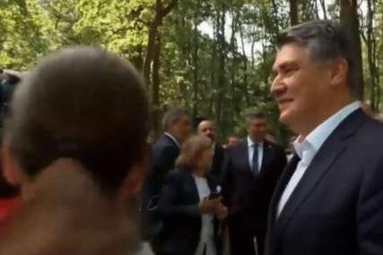 Premijer obrisao ruke nakon rukovanja sa predsjednikom: Milanović i Plenković se pokoškali na obilježavanju Dana antifašističke borbe (VIDEO)