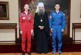 """Ruski kosmonauti posjetili patrijarha Porfirija """"Otkrivanjem i spoznajom svemira postajemo sve bliži jedni drugima"""""""