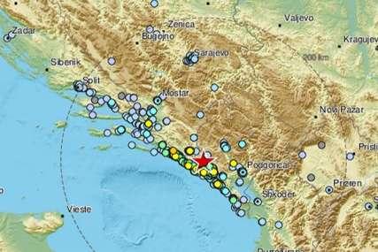 Tlo se ne šali: Zemljotres koji je pogodio Crnu Goru osjetio se i u Dalmaciji
