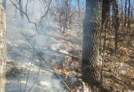 Vatra ne ugrožava kuće: Požar na granici sa Crnom Gorom se širi prema trebinjskoj opštini