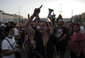 PROTESTI U ATINI Policija upotrijebila vodene topove i suzavac