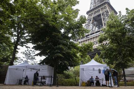 U ZNAK PROTESTA Migrantski kamp postavljen u otmjenom dijelu Pariza