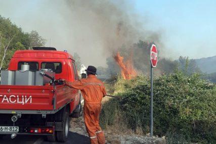 Požar u Popovom polju: Uzrok pucanje dalekovoda