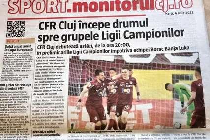 PREDNOST KLUŽU Rumunski mediji ističu da se Borac ne smije potcijeniti