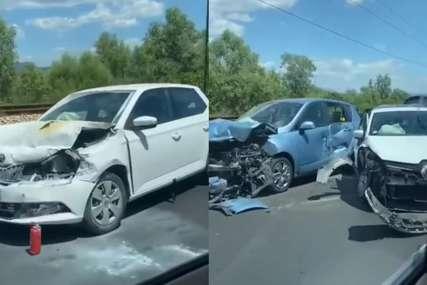 SMRSKANI AUTOMOBILI Povrijeđeno više ljudi u udesu na putu Podgorica-Bar (VIDEO)
