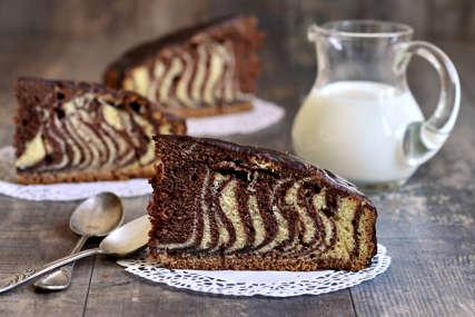 Ukusna je i super izgleda: Zebra torta se pravi bez paljenja rerne
