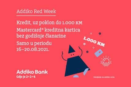 Avgustovski Addiko Red Week nudi posebne pogodnosti: Kredit uz poklon do 1.000 KM i Mastercard kreditna kartica bez godišnje članarine