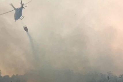 Bilećki vatrogasci presjecaju put vatri na Viduši: Požari zahvatili nepristupačno područje