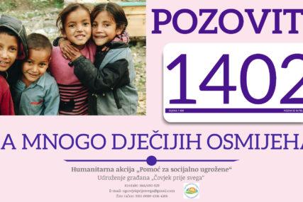 Pozovimo humanitarni broj 1402: Pomozimo u nabavci knjiga, pribora i zimske odjeće sa djecu iz socijalno ugroženih porodica