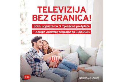m:tel IPTV - više od televizije: Za nove korisnike popust od 30% na tri mjesečne pretplate