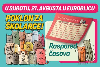 """ZA NAŠE ŠKOLARCE Uz """"EuroBlic"""" na poklon raspored časova"""