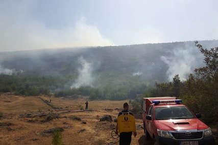 Novi krak požara prema selu: Bilećki vatrogasci sedmi dan se bore sa vatrenom stihijom
